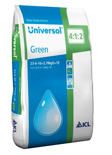 Universol 23-06-10+2,7MgO+TE Zelený 25 Kg