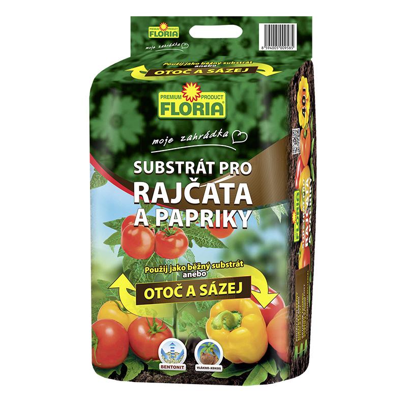 FLORIA Substrát na rajčata a papriky 40 l (OTOČ A SÁZEJ!)