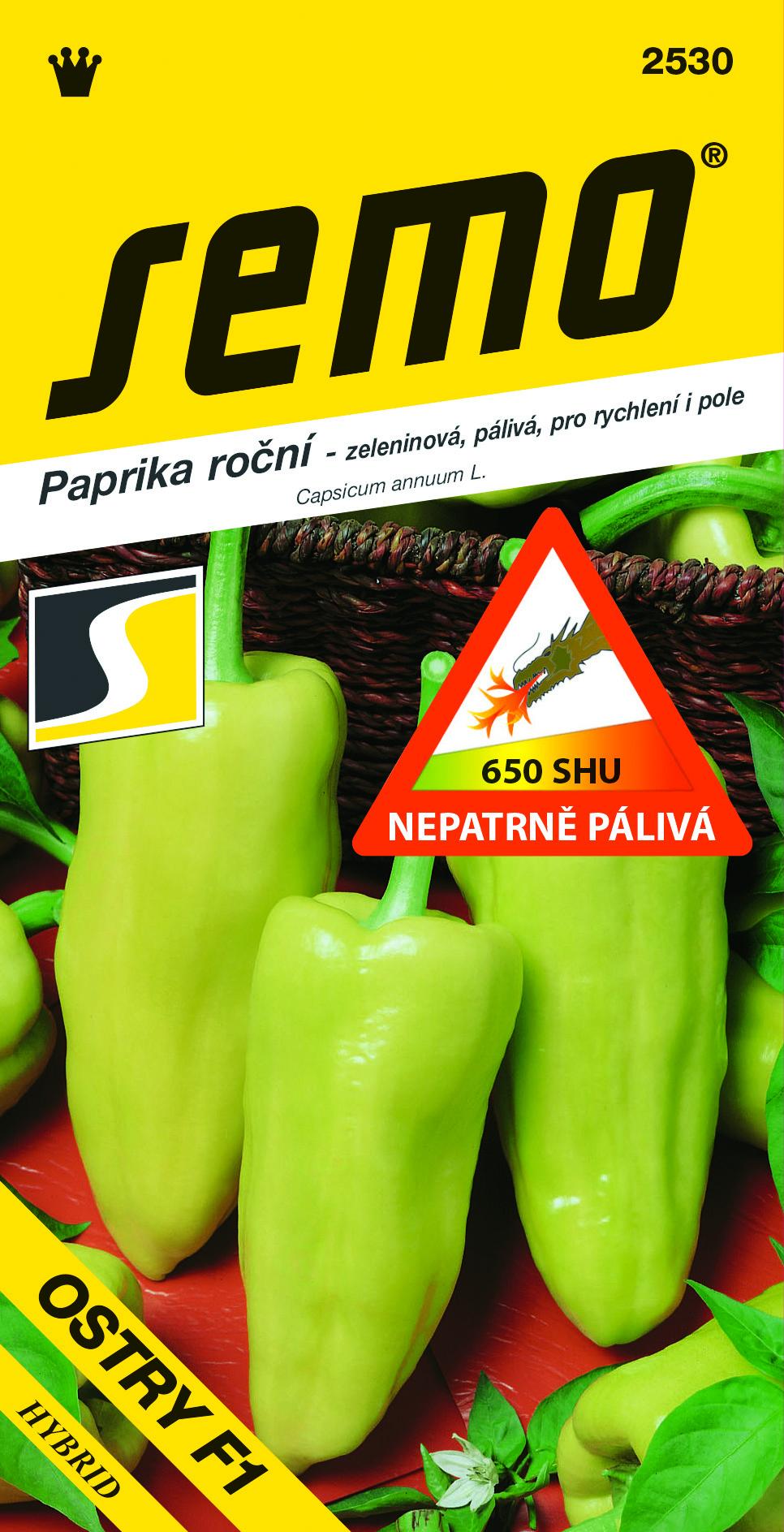 Paprika roční OSTRY F1