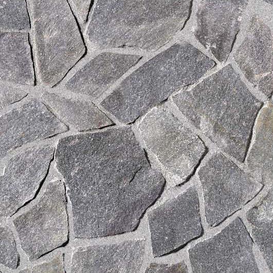 Nášlapné kameny (dlažba) Rula stříbrnošedá 1m2