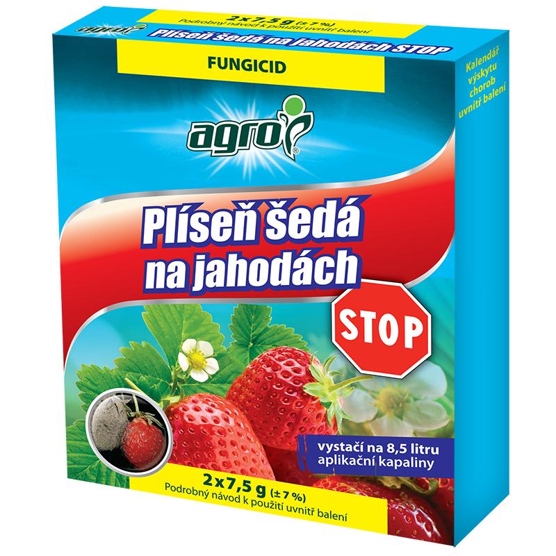 AGRO Plíseň šedá na jahodách STOP 2x 7,5 g