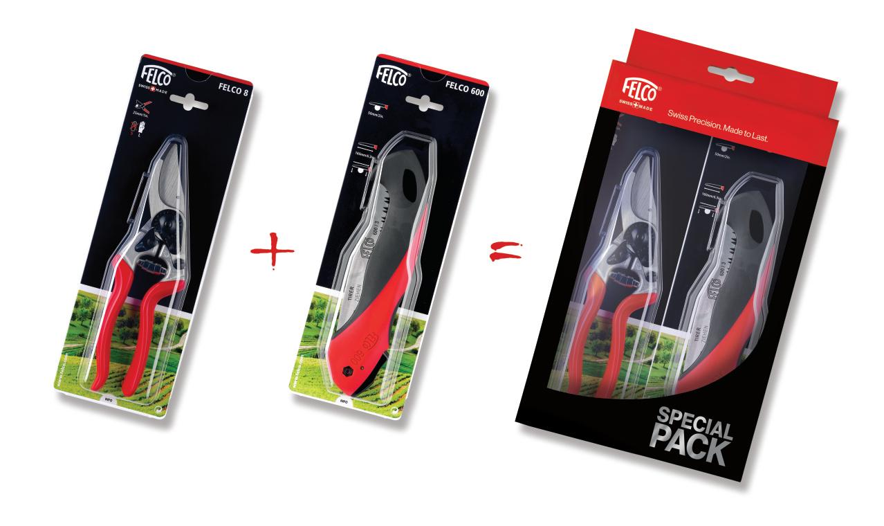 Nůžky FELCO 8 + pilka FELCO 600 dárkový set