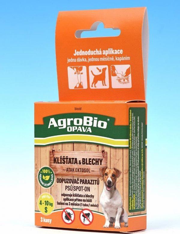 ATAK Ektosol SpotOn - Odpuzovač parazitů psů balení S