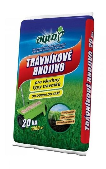 AGRO Trávníkové hnojivo 20 kg 19-08-08+2MgO