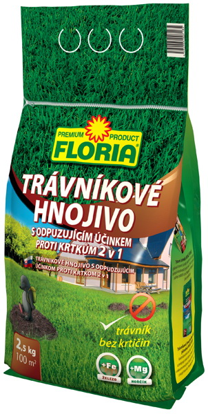 FLORIA trávníkové hnojivo proti krtkům 2,5 kg