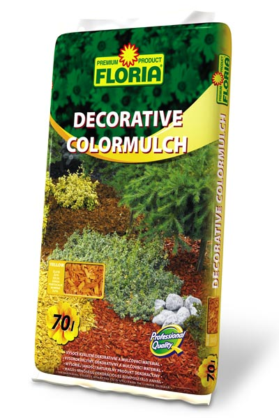 FLORIA Decor. ColorMulch žlutá 70 l